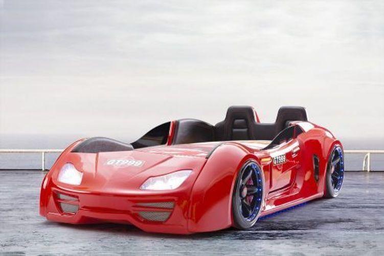 Autobett GT 999 Extreme Rot mit Türen + Rücklehne + LED + Sound