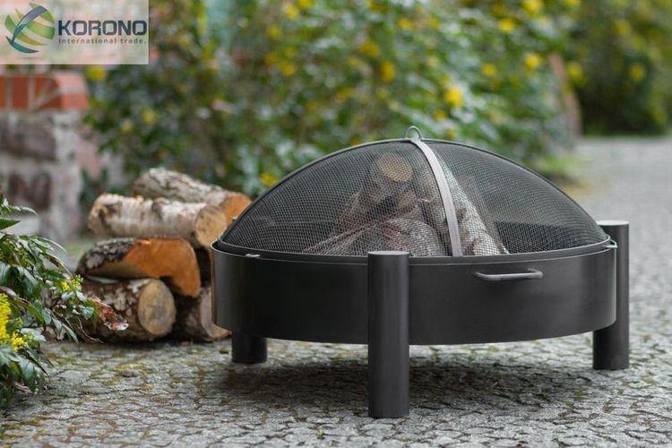 Feuerkorb Grillfeuer Feuerstelle Feuerschale und Grillrost aus Stahl Ø 80 cm
