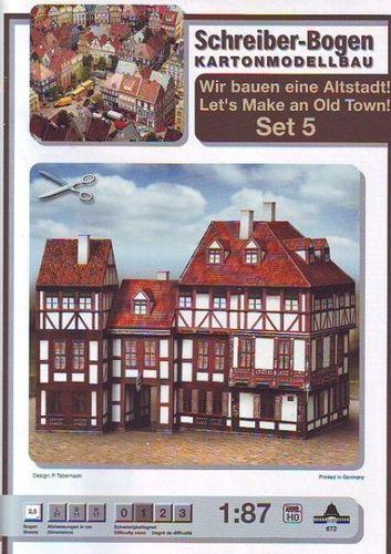 Schreiber-Bogen Kartonmodellbau Altstadt-Set 6
