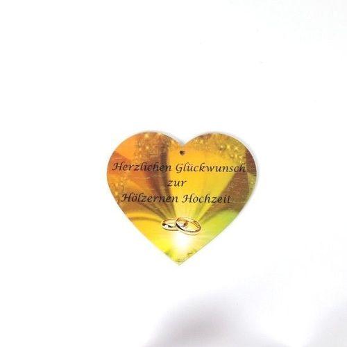 Geschenk Zur Hölzernen Hochzeit Holzherz Mit Farbdruck Jubiläum Herz Geschenk