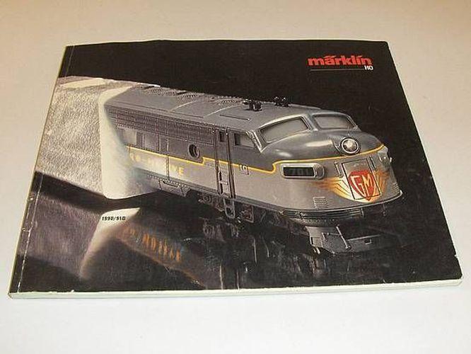 gebraucht Katalog von 1990 Märklin HO 91