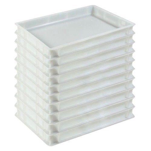 Pizzateigbehälter weiß Transportbox Pizzateigwanne Gastrobox 60x40x7 Gastlando