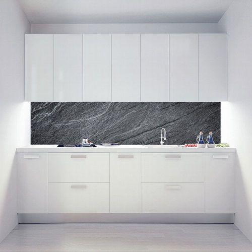 Küchenrückwand Alu Verbund Herd Spritzschutz Schiefer Roccia Nobila V1