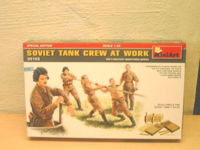 MINIART 35153 Soviet Tank Crew at Work Figuren in 1:35 Special Edition