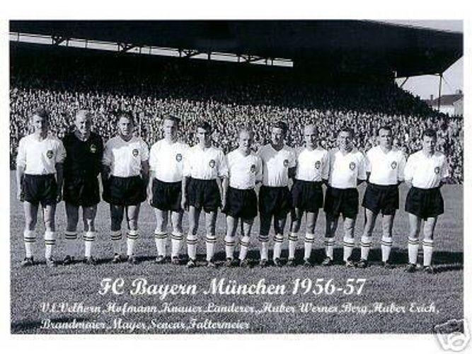 FC Bayern München Mannschaftskarte 1956-57 TOP 2