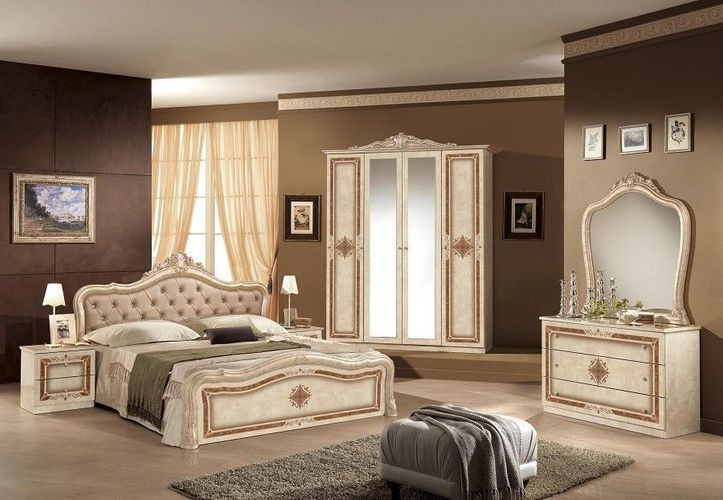 Schlafzimmer Lucy in beige Creme klassisch braun Designer Italie