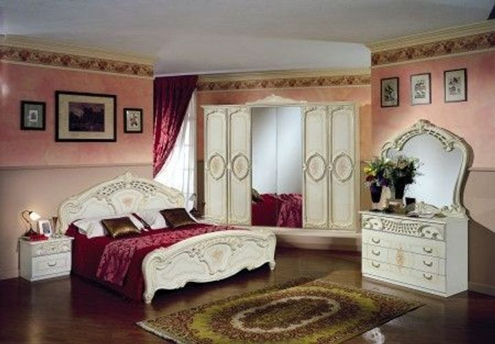 Schlafzimmer Rozza Beige Creme Bett 160 Italien Klassik Barock Kaufen Bei Hood De