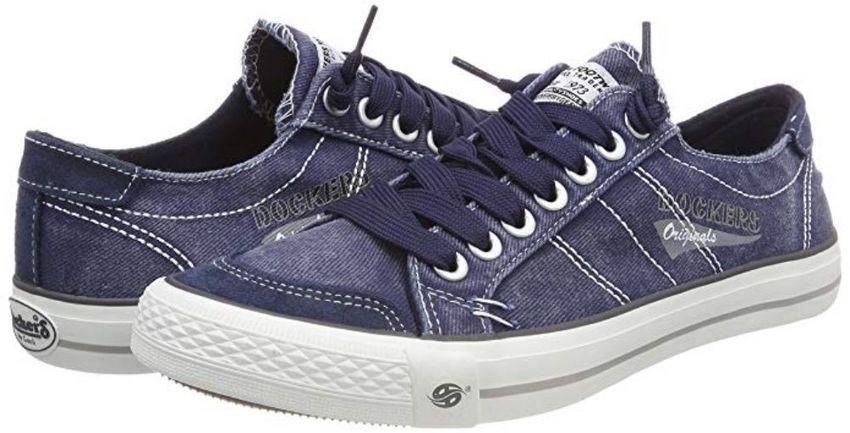DOCKERS by Gerli 30ST027-790660 Herren Sneaker Washed Canvas Schuhe Navy