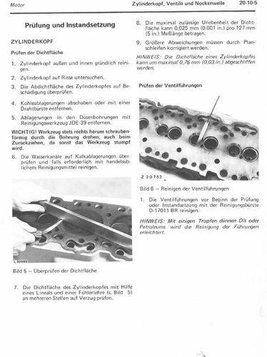 JOHN DEERE Werkstatthandbuch CD-Rom für Motor zum 840 940 1040 1140 Traktor