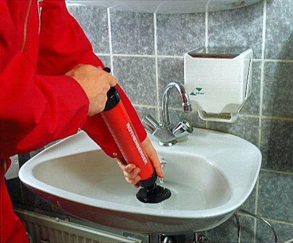 K/üche und WC Druckreiniger RoPump 71991 ROTHENBERGER Industrial Saug Abfluss Verstopfungen in Bad Reiniger zum Beseitigen von Rohr