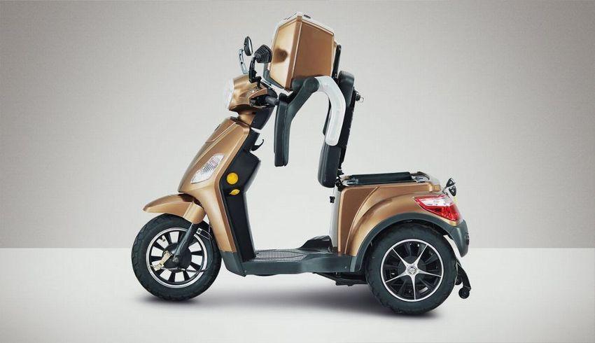 seniorenmobil dreiradscooter e scooter econelo j1000 braun elektroroller 1000 watt kaufen bei. Black Bedroom Furniture Sets. Home Design Ideas