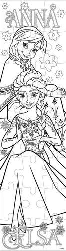 Frozen Eiskonigin 2in1 Puzzle 24 Teile Zum Ausmalen 2 Sides 13x48cm Anna Elsa Kaufen Bei Hood De