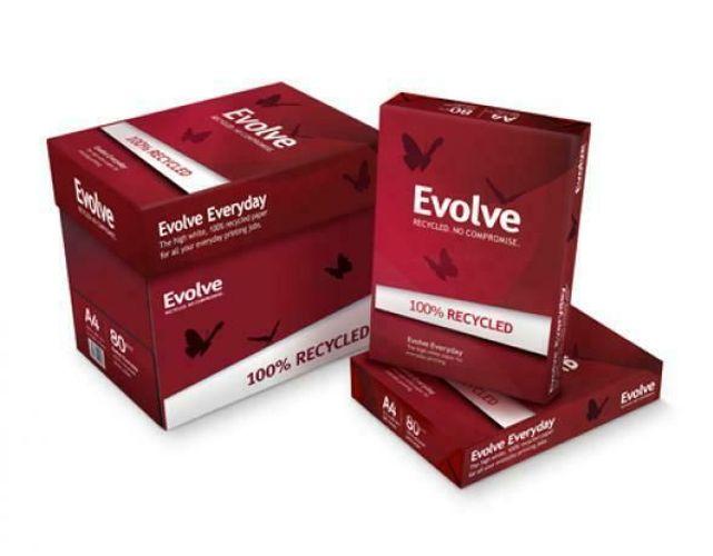 Evolve Everyday Kopierpapier 100/% recycling A4 weiß 80g//m² 2500 Blatt hoch weiß