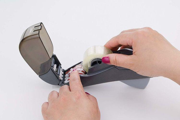 Peach PO101 Tape-Dispenser Halbautomatischer Klebebandspender 12-19mm inkl 2 R.