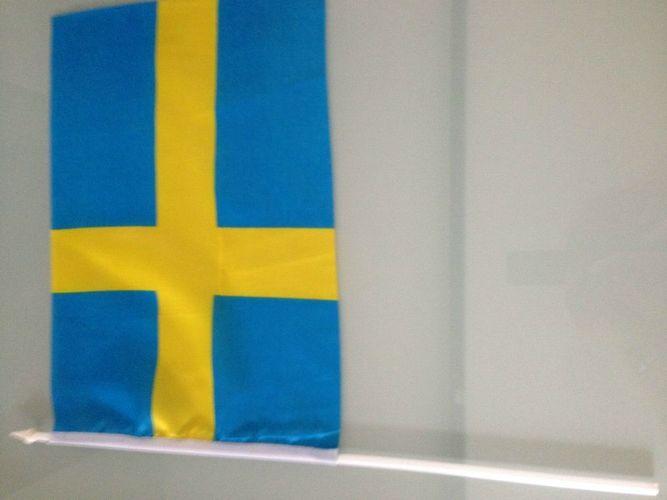 Schweden Stockflagge Flaggen Fahnen Stockfahne 30x45cm