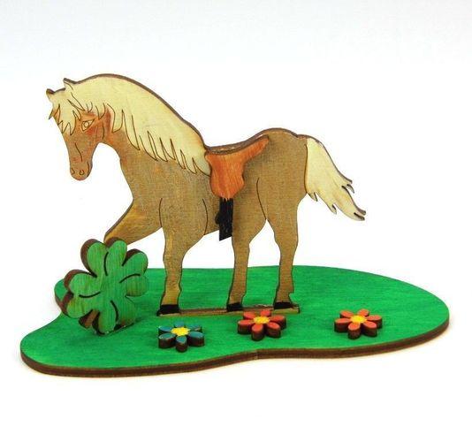 zum Kindergeburtstag Bastel Set aus Holz Pferd aus Holz Kreativ Set für Kinder