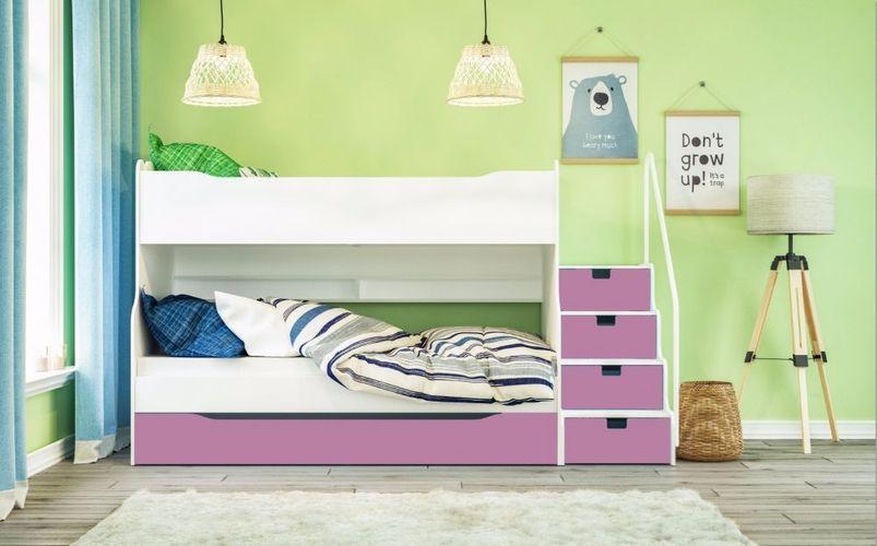 Etagenbett Kinderbett Hochbett Mazzi Fur Bis Zu Drei Kinder Im Stockbett Schlafen Kaufen Bei Hood De