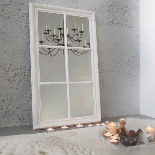 cagü: Romantischer Design Wandspiegel Spiegel [PORTA] Weiss Vintage aus  Holz 105cm