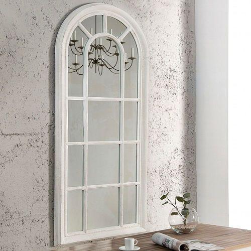 cagü: Romantischer Design Wandspiegel Spiegel [PORTA] Weiss Vintage aus  Holz 140cm