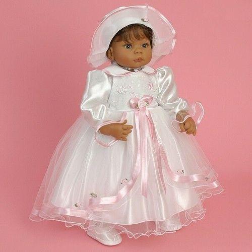 Nr0ta1 Taufkleid Festkleid Taufgewand Kleid Taufe Hochzeit Babykleid Taufset
