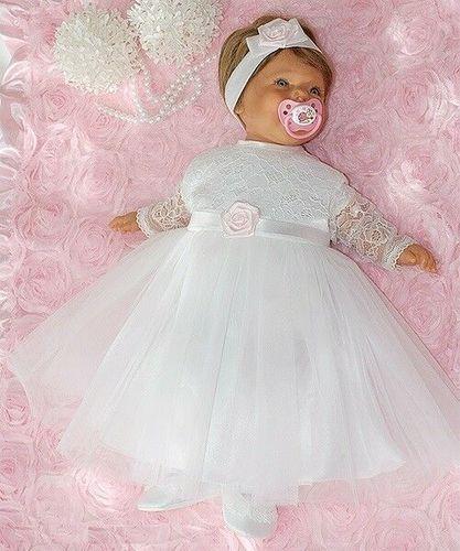 Nr0ta23 Taufkleid Festkleid Taufgewand Kleid Taufe Hochzeit Babykleid Taufset
