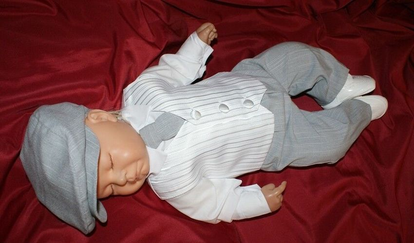 Nr.015n2 Kinderanzug Taufanzug Festanzug Babyanzug Anzug Taufgewand Neu
