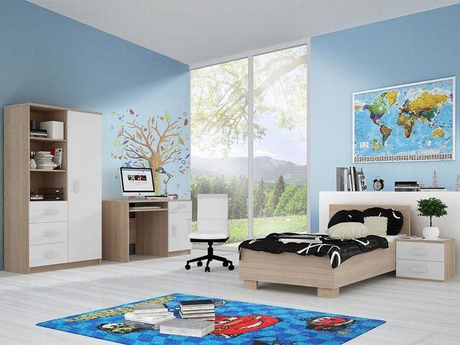 Jugendzimmer Calbe III Modern Design Set Kinderzimmer Möbel Komplett Bett  Regal
