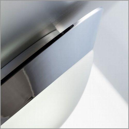 LED Decken-Leuchte Wand-Lampe Badezimmer IP44 Metall Glas chrom-weiß E27