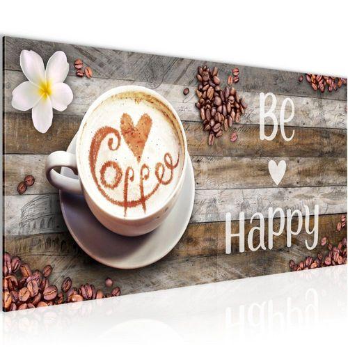 Cappuccino mit Herz Leinwandbild Wanddeko Kunstdruck