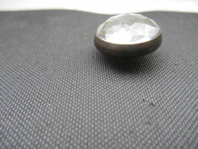 Diamant m 50 Ziernägel//Polsternägel Kristall Bronzefassung 16,5 mm Durchm.