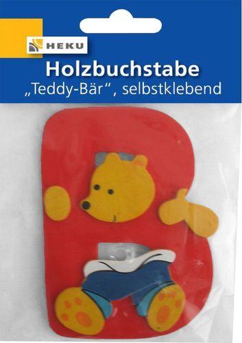 T/ürschild Holzbuchstabe Teddy-B/är T/ürdekoration 80mm Buchstabe:N