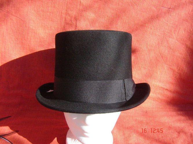 Zylinderhut extra hoch schwarz für Hochzeit oder Zauberer