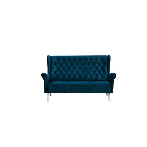 Ohrensofa 3-er Sofa Couch Stoff Samt (Velour) Glamour ...