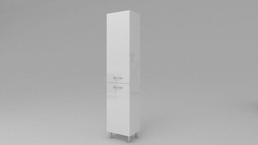 Badezimmerschrank Mit Wäschekorb Sw23 188x304050 Cm Weiß Hochglanzt