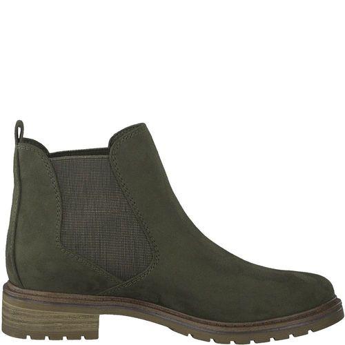Marco Tozzi Damen Stiefeletten Chelsea Boots 2 25490 23 Khaki Comb.