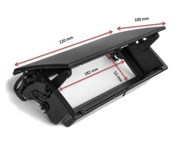 Blende Rahmen Autoradio für Citroen Berlingo ZX 1996-2005 schwarz Flip-Down 1DIN