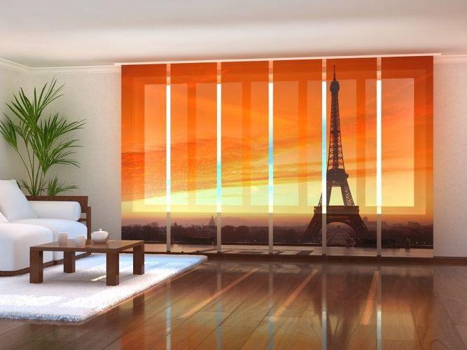 Fotogardine Paris Eifelturm Flächenvorhang Schiebegardine Gardine auf Maß