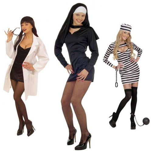 Kostüm Frauenarzt Sexy Nonne Sträfling Fasching Karneval