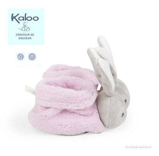 Kaloo Baby Söckchen Hase Plume Rosa 0-3 Monate Extraweich Glöckchen Geschenkbox