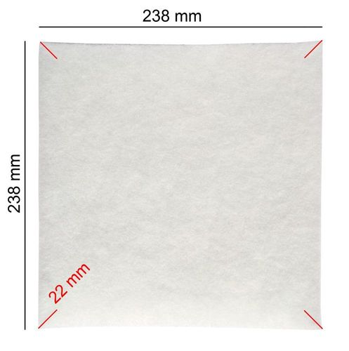 5 Swirl Ersatzfilter für Limodor Lüfterserie compact G4-238x238 mm Filter
