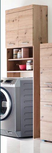 Waschmaschinenschrank In Eiche Asteiche Amanda 63 X 187 Cm Waschmaschinen Uberbau Kaufen Bei Hood De
