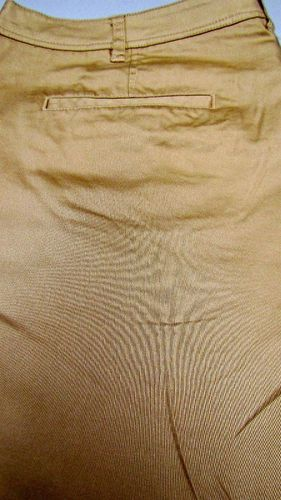 NEU Damen Stretch Stoff Chino Hose uni crem sand beige Übergröße große Gr 52 56