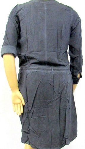 NEU leicht Damen Langarm Viskose Kleid grau schlam ...