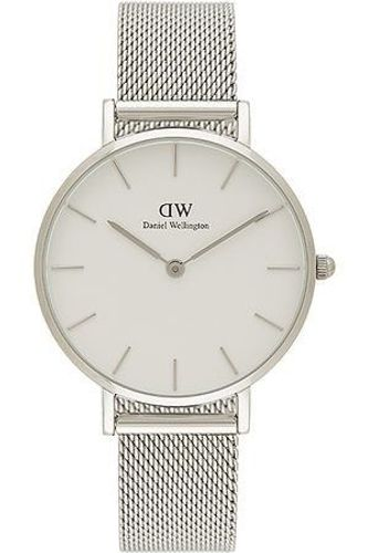 Daniel Wellington Classic Petite Damenuhr 32mm DW00100164 Armbanduhr weiß silber NEU