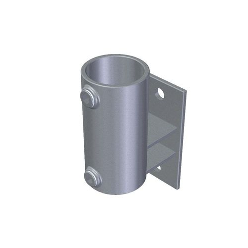 "90° vertikal Ladenbau 33,7 mm Rohrverbinder Temperguss Schraubhalterung 1/"""