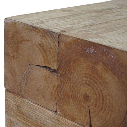 Wohnzimmertisch Couchtisch HWC-A15c Tanne Holz rustikal massiv