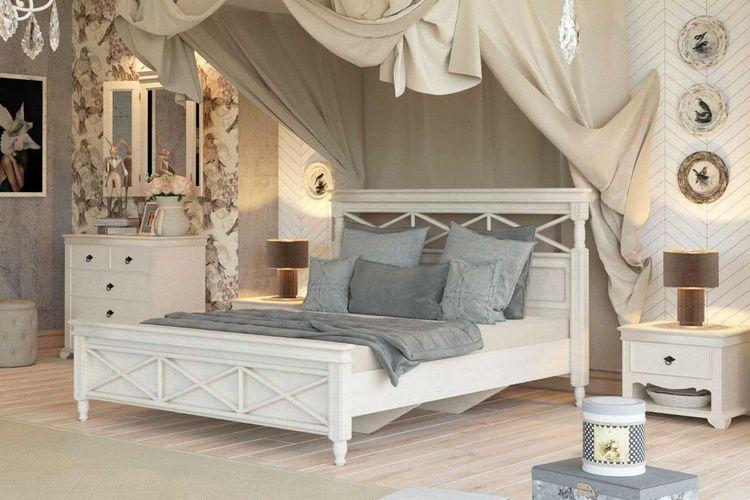 Landhausstil Schlafzimmer Komplett Amelie 6 Teilig Creme Weiss Kaufen Bei Hood De