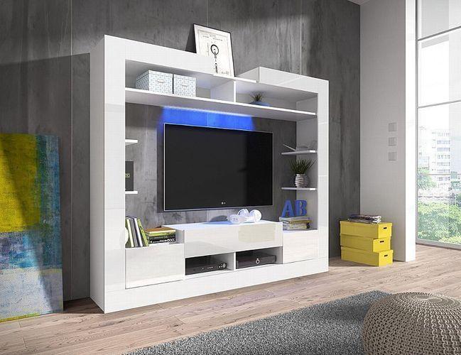 Wohnwand Sek Schrankwand Mediawand Anbauwand Wohnzimmer-Set Modern  Wohnzimmer