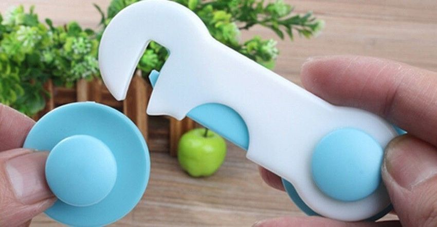 20 St Schrankschloss Schranksicherung Kindersicherung Schubladensicherung blau