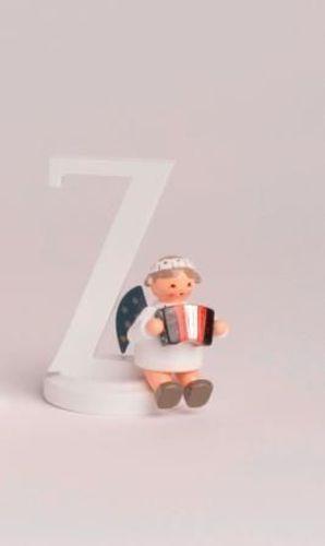 """Engelbuchstabe /""""/&/""""  7 cm NEU  Holzengel Deko Figur Erzgebirge Weihnachtsengel"""